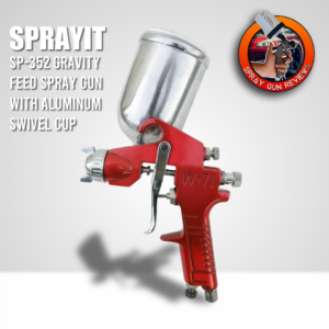 SPRAYIT SP-352 Gravity Feed Spray Gun with Aluminum Swivel Cup Review