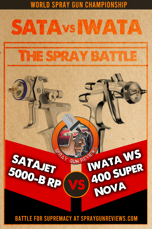 SATAjet 5000-B RP Spray Gun VS Iwata WS 400 Super Nova